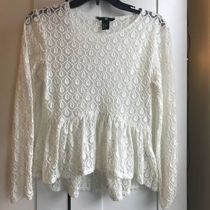 White high low blouse